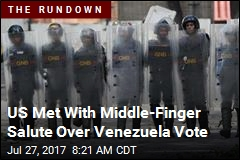 US Met With Middle-Finger Salute Over Venezuela Vote