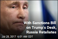 With Sanctions Bill on Trump's Desk, Russia Retaliates