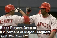 Black Players Drop to 8.2 Percent of Major Leaguers