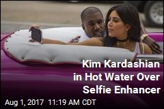 Kim Kardashian in Hot Water Over Selfie Enhancer
