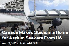 Canada Opens Stadium to House Refugees Crossing From US