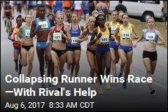 Collapsing Runner Wins Race —With Rival's Help
