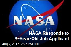 NASA Responds to Boy, 9, Who Applied for a Job