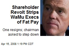 Shareholder Revolt Strips WaMu Execs of Fat Pay