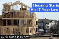 Housing Starts Hit 17-Year Low