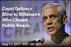 Court Delivers Blow to Billionaire Who Closed Public Beach