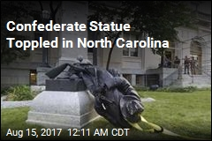 Protesters Topple Confederate Statue in NC