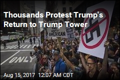 Thousands Protest Trump's Return to Trump Tower