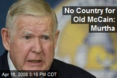 No Country for Old McCain: Murtha