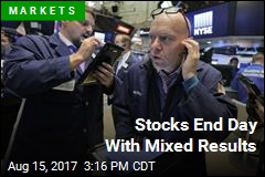 Stocks End Day With Mixed Results