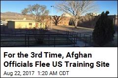 3 Afghan Prison Officials Flee US Training Center