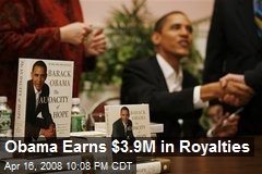 Obama Earns $3.9M in Royalties