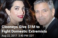 George, Amal Clooney Give $1M to Fight Hate Groups