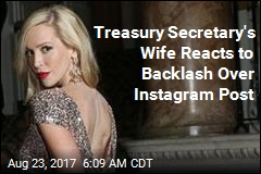 Mnuchin's Wife Says Sorry for 'Highly Insensitive' Instagram Post