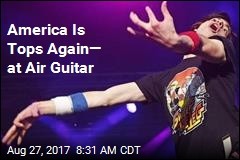 America Is Tops Again— at Air Guitar