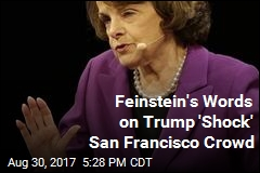Feinstein's Words on Trump 'Shock' San Francisco Crowd