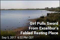 Girl Pulls Sword From Excalibur's Fabled Resting Place