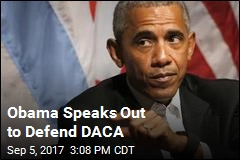 Obama Speaks Out to Defend DACA