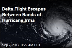 Delta Flight Narrowly Beats Hurricane Irma