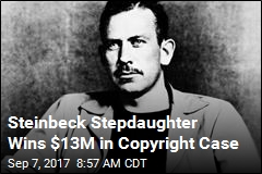 Steinbeck Stepdaughter Wins $13M in Copyright Case