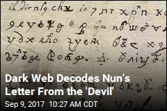 Dark Web Decodes Nun's Letter From the Devil