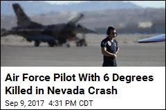 Air Force Confirms: Pilot Died in Crash at Training Range