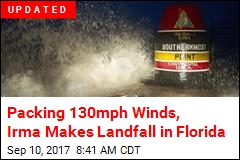 Irma's Eyewall Slams Into Florida Keys