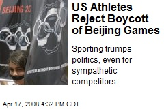 US Athletes Reject Boycott of Beijing Games