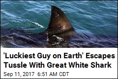 'Luckiest Guy on Earth' Escapes Tussle With Great White Shark