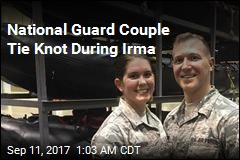 National Guard Couple Tie Knot During Irma