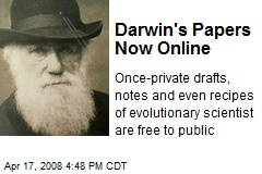 Darwin's Papers Now Online