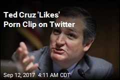 Ted Cruz 'Likes' Porn Clip on Twitter