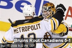 Bruins Rout Canadiens 5-1
