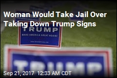 Woman Would Rather Go to Jail Than Take Down Trump Signs