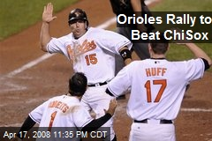 Orioles Rally to Beat ChiSox