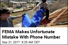 FEMA Makes Unfortunate Mistake With Phone Number