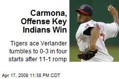 Carmona, Offense Key Indians Win