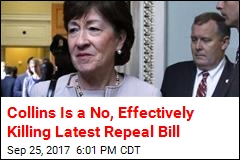 Collins Is a No, Effectively Killing Latest Repeal Bill