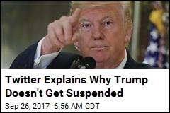 Twitter Explains Why Trump Doesn't Get Suspended