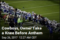 Cowboys, Owner Take a Knee Before Anthem