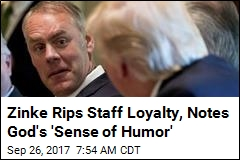 Interior Secretary: 30% of My Staff 'Not Loyal to the Flag'