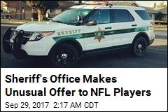 Sheriff's Office Invites NFL Players to Ride Along