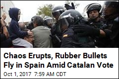 Chaos Erupts, Rubber Bullets Fly in Spain Amid Catalan Vote