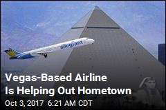Vegas-Based Airline Is Helping Out Hometown