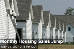 Monthly Housing Sales Jump