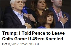 Pence Leaves Colts Game When 49ers Kneel During Anthem