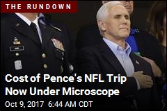 Pence's NFL-Game Exit Decried as 'Stunt'