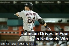 Johnson Drives in Four in Nationals Win