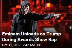 Eminem Unloads on Trump During Awards Show Rap
