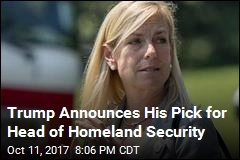Trump Announces His Pick for Head of Homeland Security